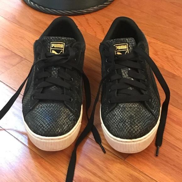 Puma Snakeskin Suede Comfort Sneakers
